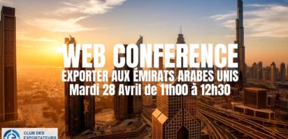 EXPORTER AUX EMIRATS ARABES UNIS LE 28 AVRIL 2020